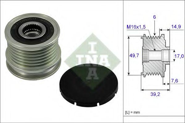 Механизм свободного хода генератора MB (пр-во Ina)                                                   в интернет магазине www.partlider.com