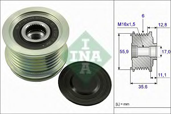 Механизм свободного хода генератора AUDI, VW 1.8T, 2.0T (пр-во Ina)                                  в интернет магазине www.partlider.com