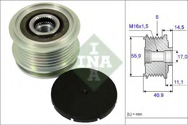 Механизм свободного хода генератора AUDI, VW (пр-во Ina)                                             в интернет магазине www.partlider.com
