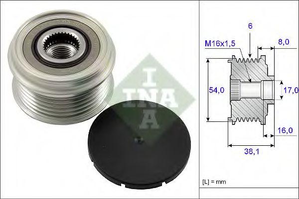 Механизм свободного хода генератора OPEL, FIAT (пр-во Ina)                                           в интернет магазине www.partlider.com