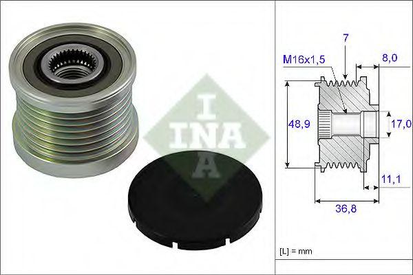 Механизм свободного хода генератора MAZDA, OPEL (пр-во Ina)                                          в интернет магазине www.partlider.com