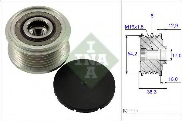Механизм свободного хода генератора CITROEN, PEUGEOT (пр-во Ina)                                     в интернет магазине www.partlider.com