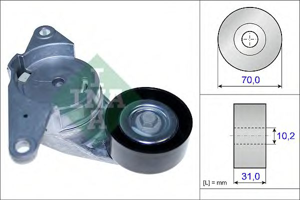 Натяжная планка, поликлиновой ремень INA арт. 534044110