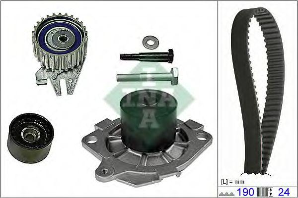 Водяной насос + комплект зубчатого ремня INA 530062230