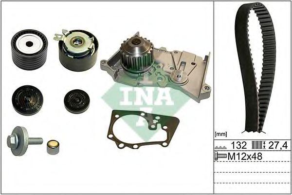 Водяной насос + комплект зубчатого ремня INA 530064030