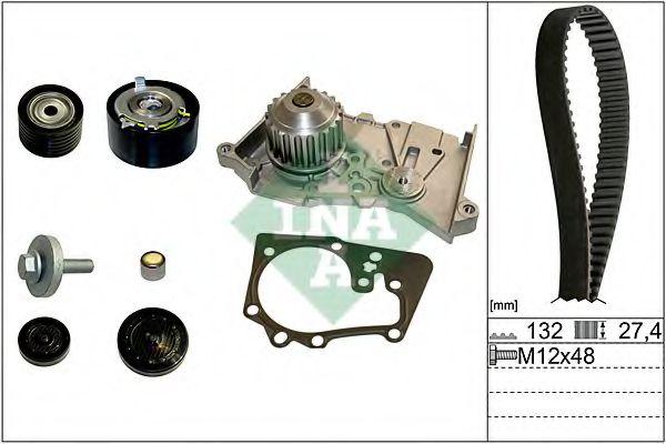 Водяной насос + комплект зубчатого ремня INA 530063930