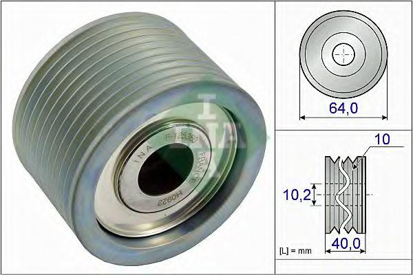 Паразитный / ведущий ролик, поликлиновой ремень INA арт. 532066210