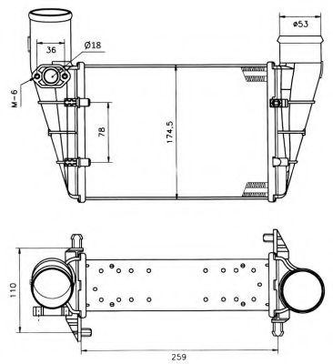 Интеркулер Интеркуллер NRF арт. 30127A