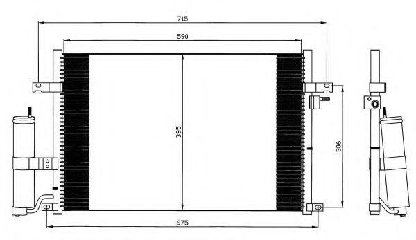 Конденсатор кондиціонера Chevrolet Lachetti 1.4-1.8 05- NRF 35573