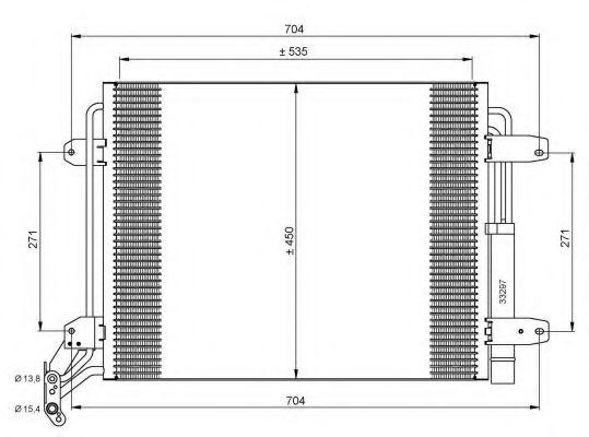 Конденсатор кондиціонера VW Tiguan 1.4-2.0 07- NRF 35848