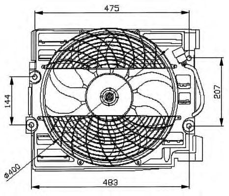 Вентилятор радиатора BMW 5-Series E39 95- (пр-во NRF)                                                в интернет магазине www.partlider.com