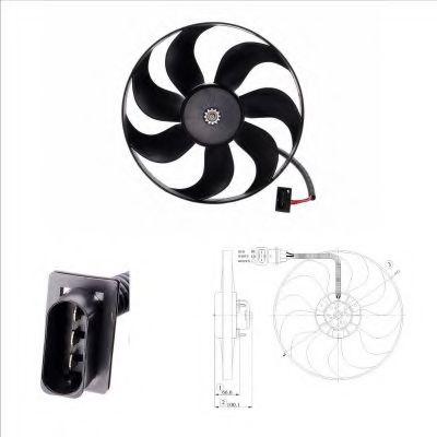 Вентилятор радиатора Audi; Seat; Skoda; VW (пр-во NRF)                                               в интернет магазине www.partlider.com