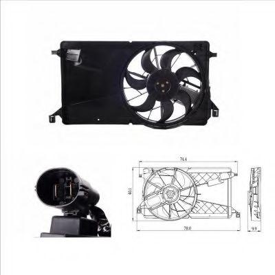 Вентилятор охлаждения радиатора NRF 47291
