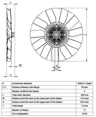 Вентилятор + гідромуфта 5 цил VW LT 2.5 SDI,TDI (AHD,AGX) NRF 49563