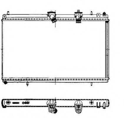 Радіатор охолодження CITROEN C5 II, C5 III, C6, C8 FIAT ULYSSE LANCIA PHEDRA PEUGEOT 407, 407 SW, 807 2.2D 04.06- NRF 50442