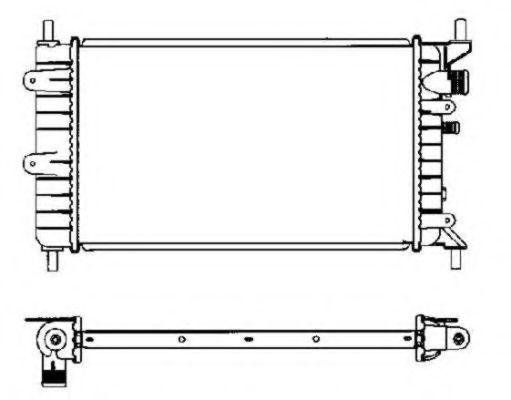 Радиатор охлаждения двигателя FORD Escort 90- (пр-во NRF)                                            в интернет магазине www.partlider.com