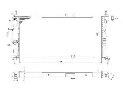 Радіатор охолодження Opel Kadett 1.6-1.8 84- NRF 52019