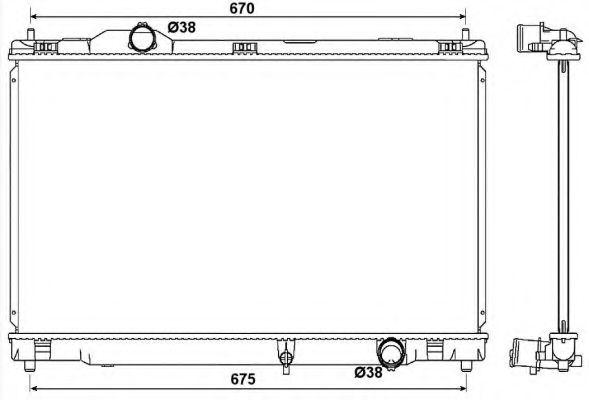 Радіатор охолодження Lexus GX 2005-2011 NRF 53039