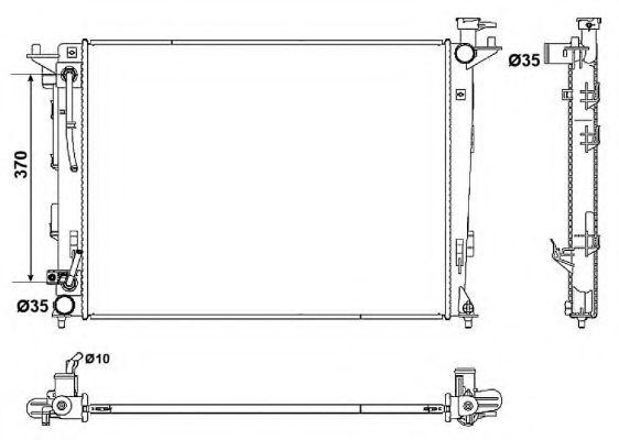 Радіатор охолодження HYUNDAI IX35 KIA SPORTAGE 2.0 01.10- NRF 53051