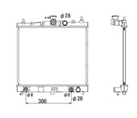 Радиатор (АКПП) NRF 53535