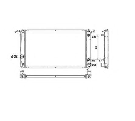 Радіатор охолодження (AT) TOYOTA RAV 4 III, RAV 4 IV 2.0 03.06- NRF 53590