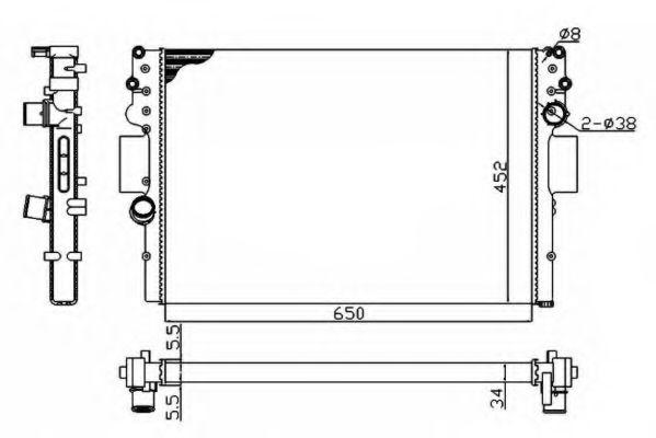 Радіатор охолодження Iveco Dailly 2.3-3.0 D 02- NRF 53614A