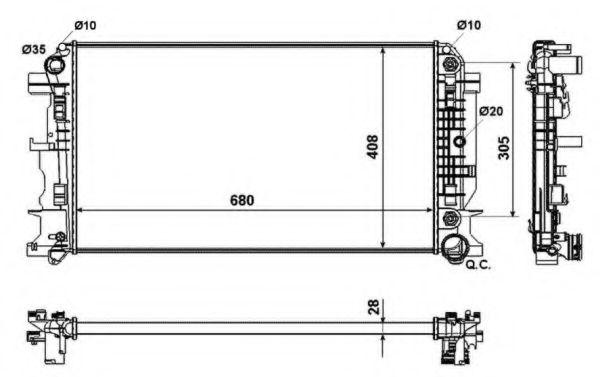 Радіатор охолодження DB Sprinter 06- NRF 53833