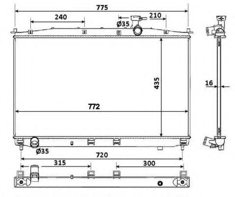Радиатор охлаждения двигателя NRF 53942