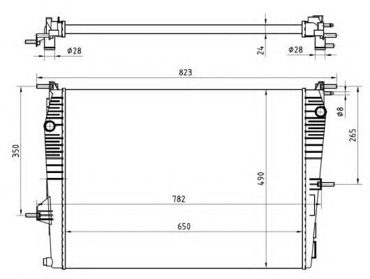 Радиатор охлаждения двигателя NRF 53965