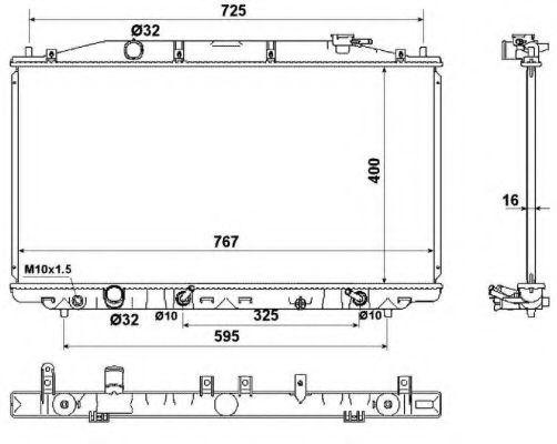 Радиатор охлаждения двигателя NRF 53971