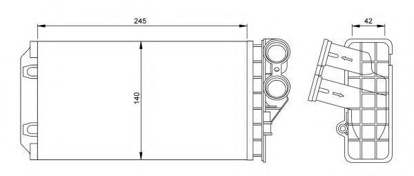 Радиатор отопителя C4/PEUG307 ALL 04-09 (про-во NRF)