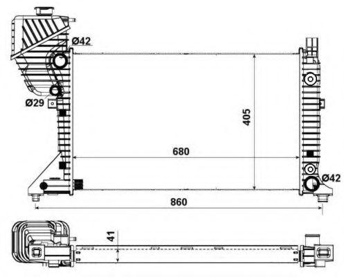 Радиатор охлаждения двигателя NRF 55349A