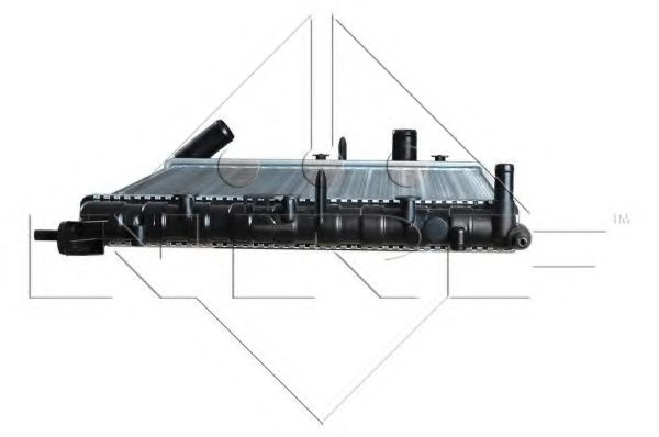 Радиатор охлаждения двигателя NRF 58196