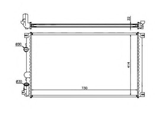 Радіатор охолодж. двигуна RENAULT MASTER II 1.9D/2.2D/2.5D 09.00- NRF 58321