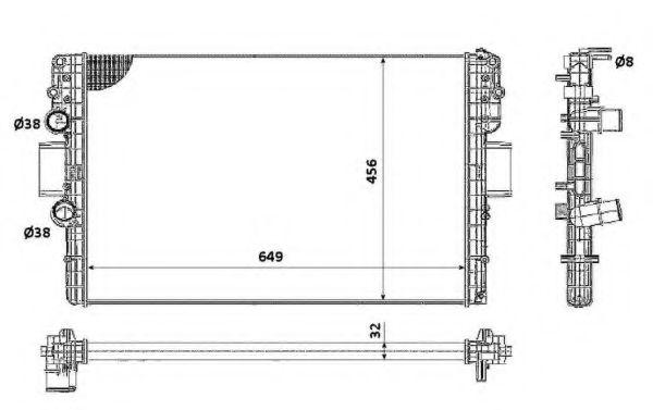 Радиатор охлаждения двигателя NRF 58361