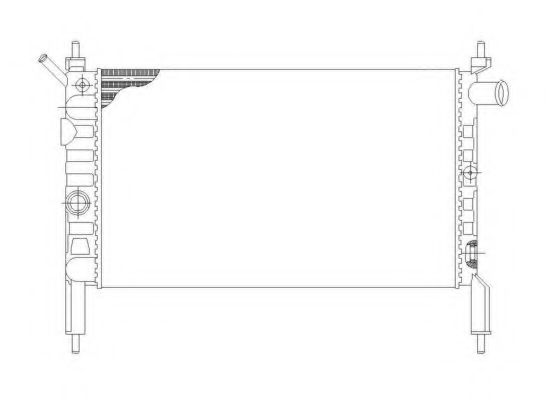 Радіатор охолодж. двигуна OPEL ASTRA F 1.4/1.6 09.91-01.05 NRF 58930