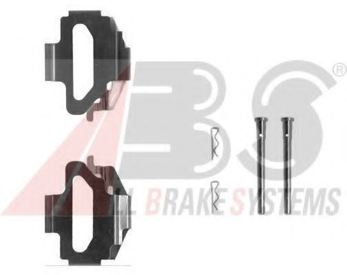 Монтажный к-кт торм. колодок FORD ESCORT V; FIESTA III (пр-во ABS)                                    арт. 1141Q