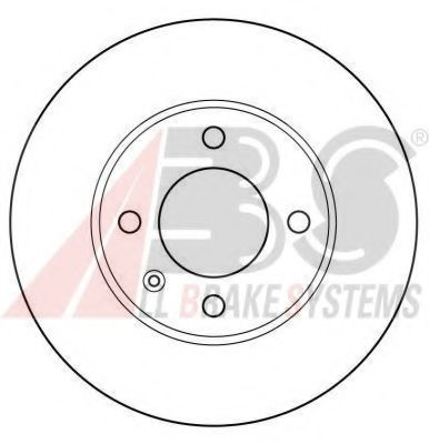 Диск тормозной AUDI/SEAT/VW передн. вент. (пр-во ABS)                                                ABS 15704