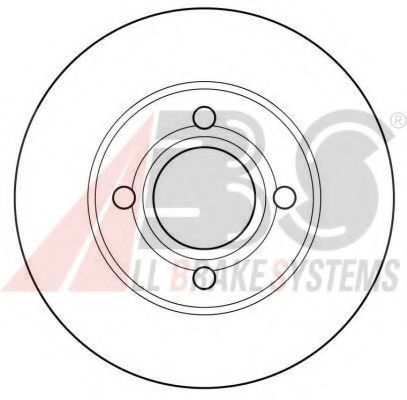 Диск тормозной AUDI 80/90/100 передн. вент. (пр-во ABS)                                              ABS 15746