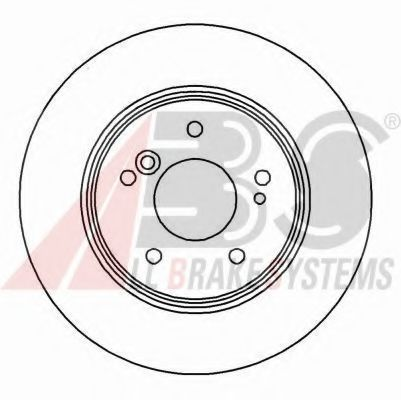 Диск тормозной MB C/E/SLK задн. (пр-во ABS)                                                          ABS 15815