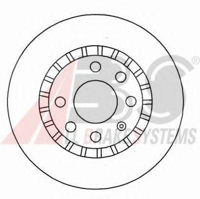 Диск тормозной OPEL ASTRA/KADETT передн. вент. (пр-во ABS)                                            арт. 15878