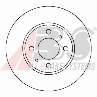 Диск гальмівний Fiat Brava/Bravo/Doblo1.6/1.9JTD/2.0TS (257X20MM) 96-02 ABS 16046