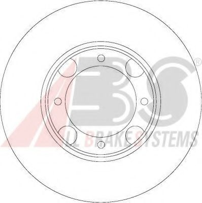 Диск гальмівний вентильований ABS 16047