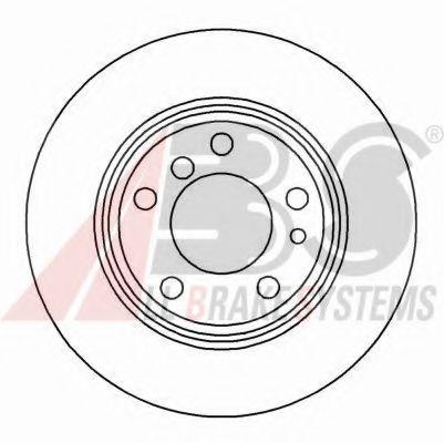 Диск гальмівний Bmw 7er /E38/ 94- задний ABS 16103