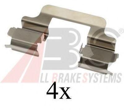 Монтажный к-кт торм. колодок AUDI A4, A5, A6, A7, Q5; VW MULTIVAN, PHAETON (пр-во ABS)                арт. 1610Q