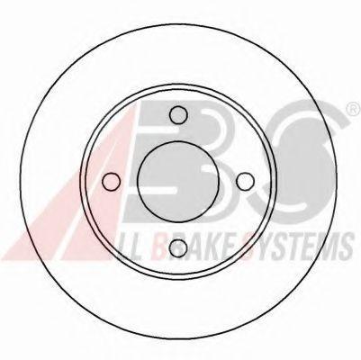 Диск тормозной FORD MONDEO/SCORPIO передн. вент. 16190 (пр-во ABS)                                    арт. 16190