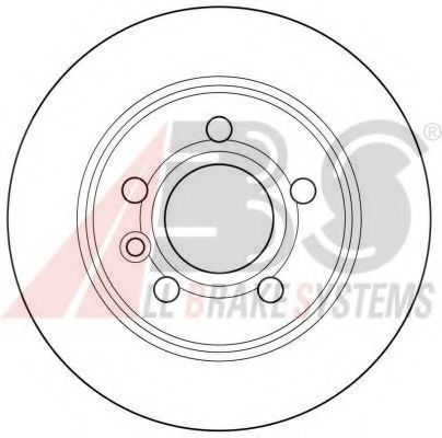 Диск тормозной FORD, SEAT, VW, задн. (пр-во ABS)                                                      арт. 16298