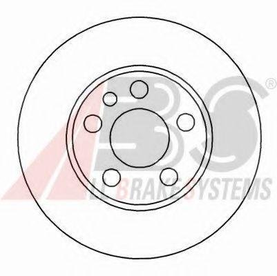 Диск тормозной CITROEN, FIAT, PEUGEOT, передн., вент. (пр-во ABS)                                    ABS 16325