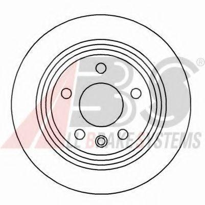 Диск гальмівний BMW 5er /E39 (96-03) (298X20X61.3) ABS 16340