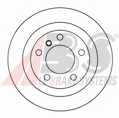 Диск гальмівний зад. BMW 520,523,525 95- 298x10 ABS 16341